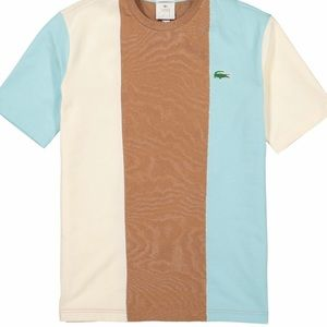 golf le fluer x lacoste color block tee